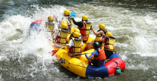 Rafting in San Gil, Colombia
