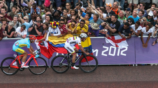 Rigoberto Urán Urán during the Men's Road Race Road Cycling on day 1 of the London 2012 Olympic Games in London