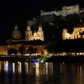 View of the Hohensalzburg Castle at night