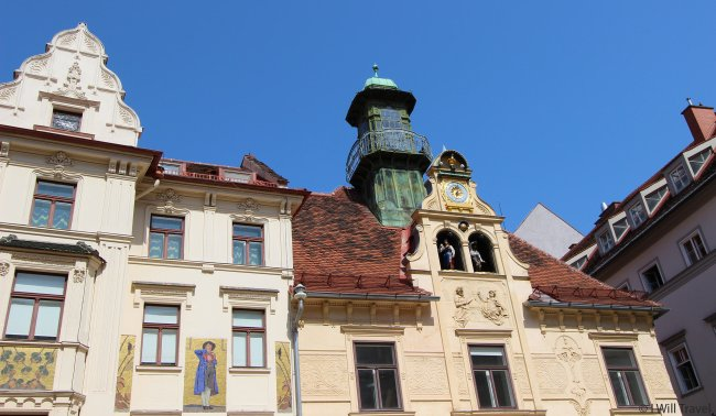 Buildings found in Graz form a harmonious blend of the architectural styles and artistic movements