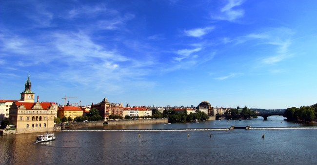 View of the Dunabe river as seen from Prague
