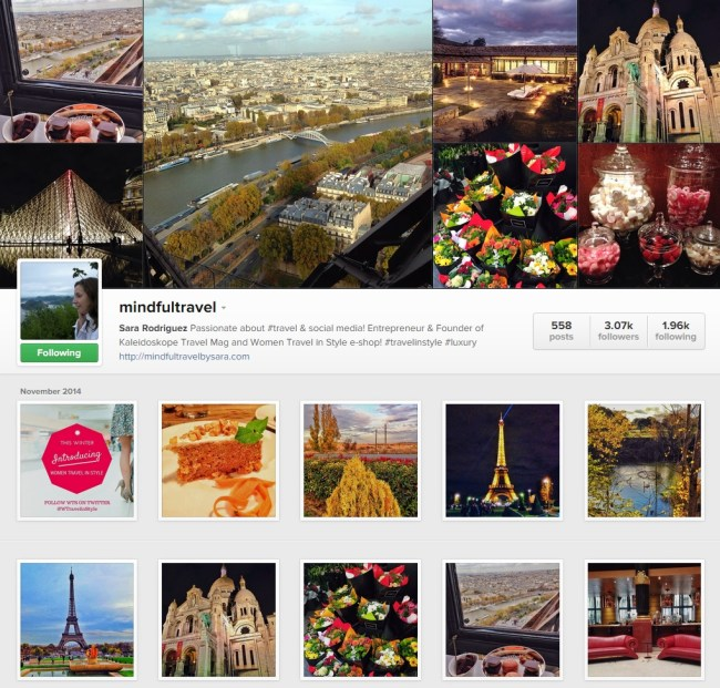 Mindful Travel Instagram Gallery