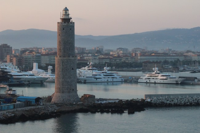 Lighthouse on the Livorno port, Italy