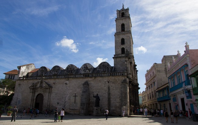 The basilica and the monastery of San Francisco de Asis located in the San Fancisco plaza.