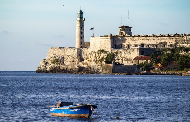 View of the Morro Castle, as seen from the malecon.