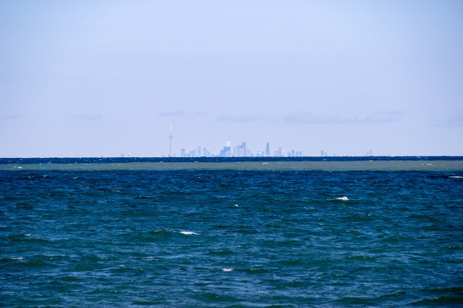 The Toronto skyline as seen from Queen's Royal Park on Niagara-on-the-Lake