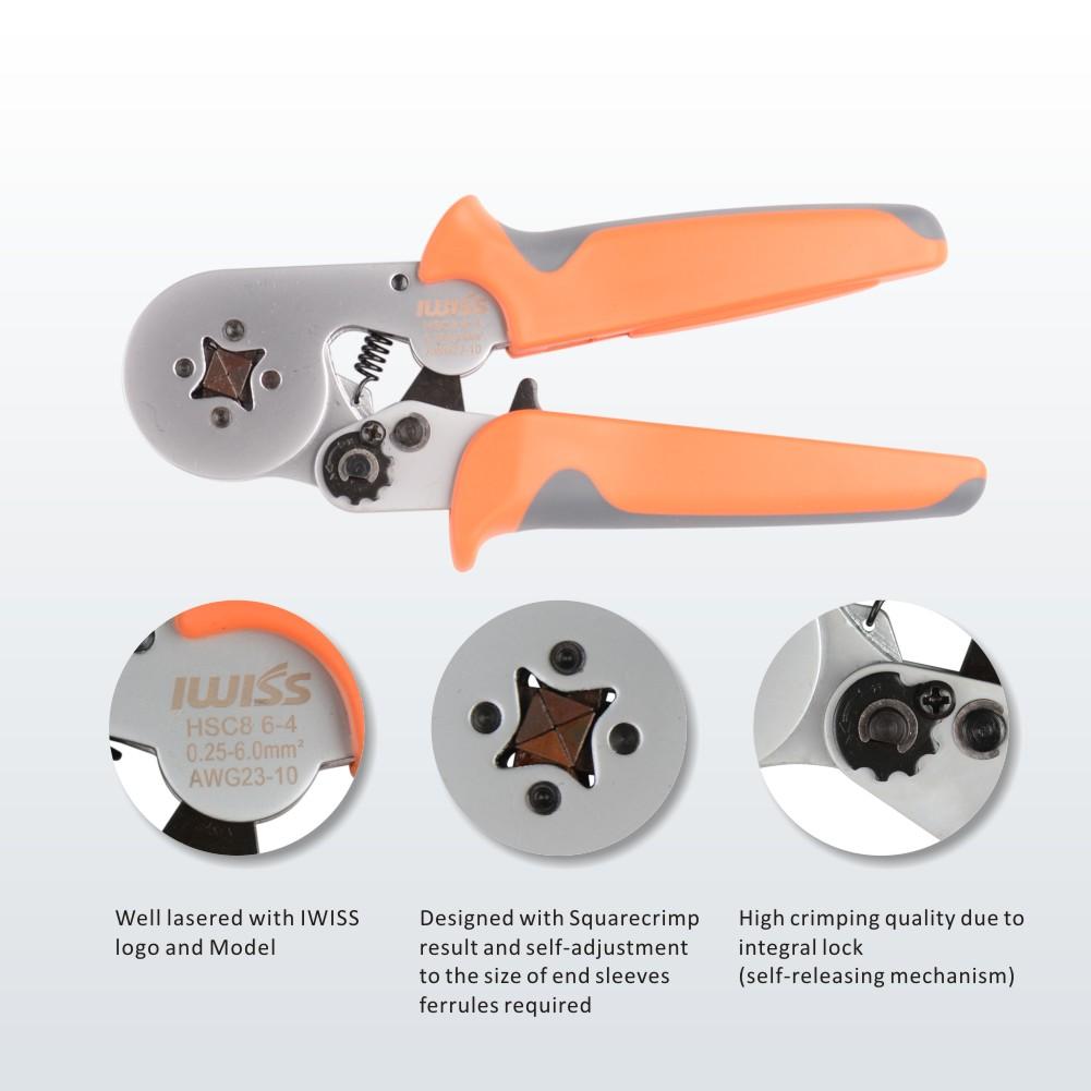 HSC8 6-4 Self Adjusting Ferrules Crimper Plier Wire Terminal End Sleeves Tool