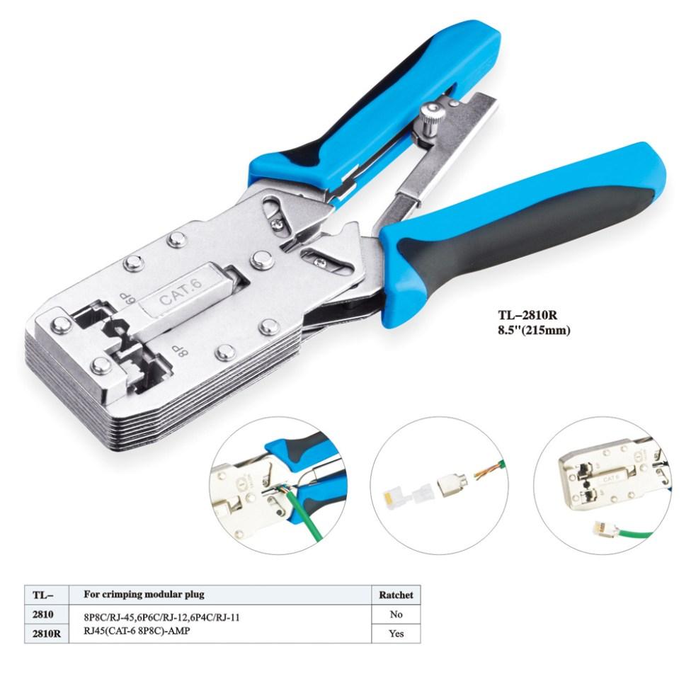 IWISS-Tools-Network-Crimper-TL-2810R-8.5inch-215mm