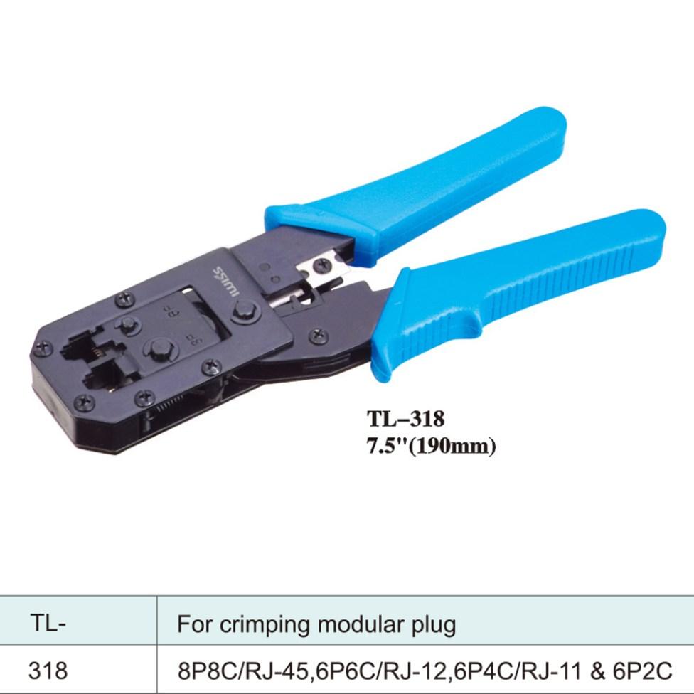 IWISS-Tools-Network-Crimper-TL-318-7.5inch-190mm