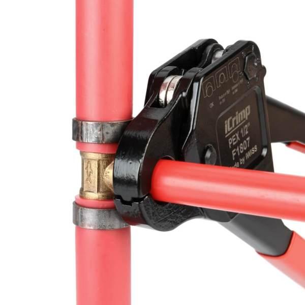 IWS-1234C F1807 Kit de herramientas de engarce de anillo de cobre de ángulo combinado