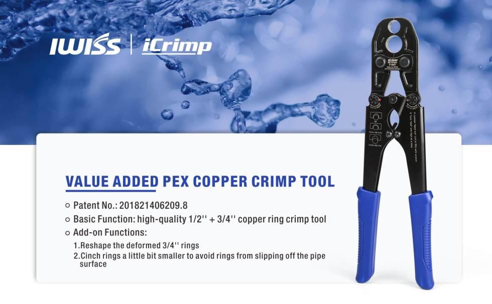 IWS-1234P long hand pipe crimping tool