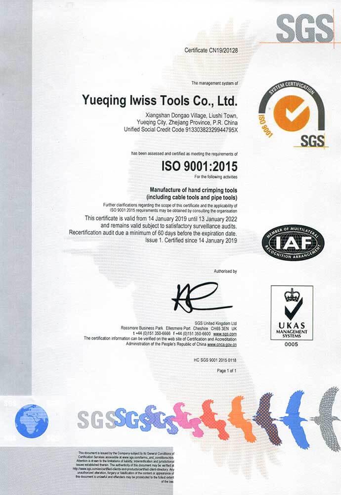 ISO9001 Certificación del SGS