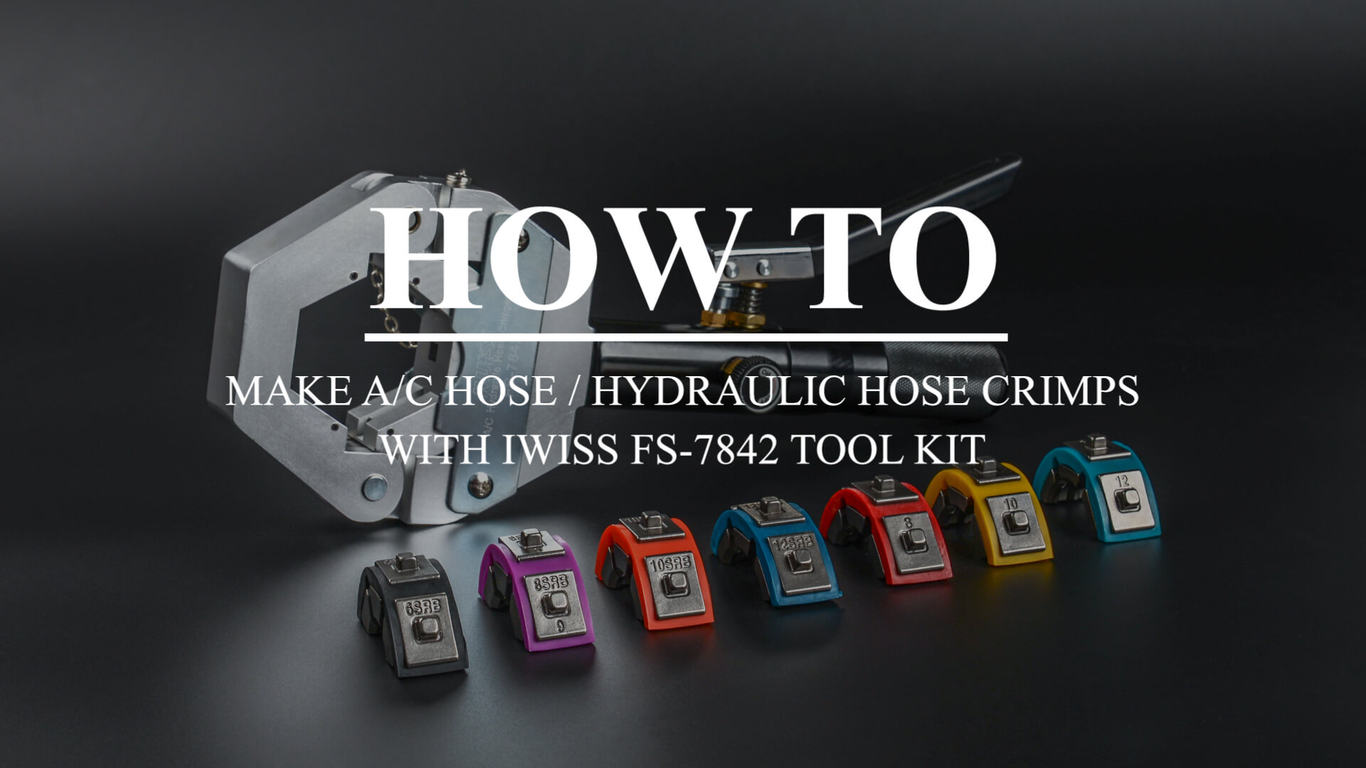 IWISS FS-7842 HYDRAULIC HOSE AIR CONDITIONING HOSE CRIMPING TOOL