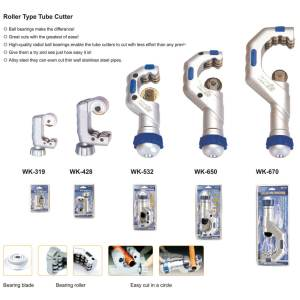 WK series roller type tube cutters