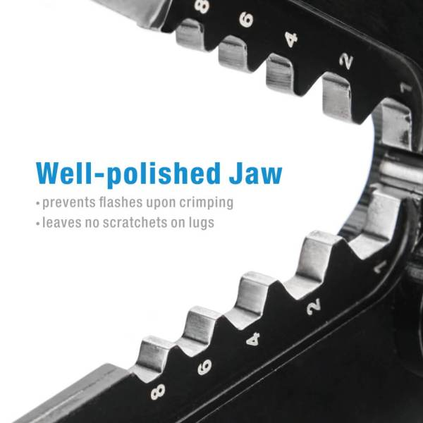 IWS-0801C Cable Crimper for Copper Cable Lugs jaw details