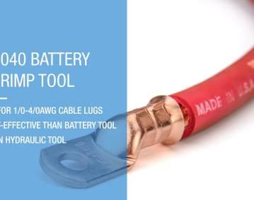 IWS-1040 battery lug crimp tool