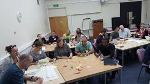 Conference delegates in a masterclass.