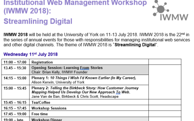 IWMW 2018 Open For Booking!
