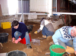 Excavating at Brading Roman Villa © SM