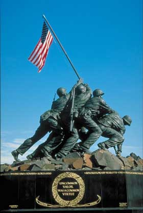 Iwo Jima Memorial, near Washington, D.C.