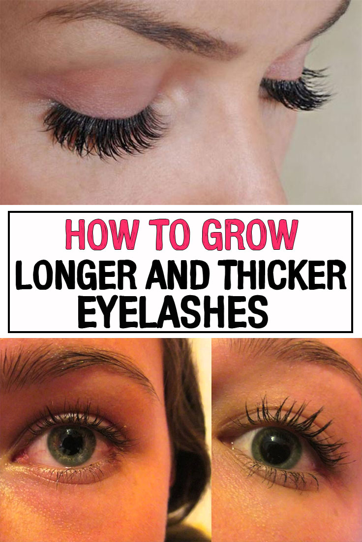 How to Grow Longer and Thicker Eyelashes - iwomenhacks