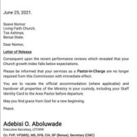 Bishop Oyedepo Sacked Me For Generating Low Income — Winners Pastor