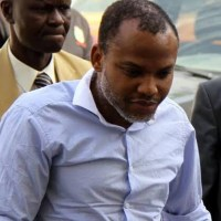 Nnamdi Kanu Arrives Court Premises, Amidst Tight Security