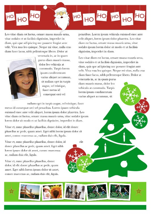 2-Page Christmas Newsletter Back