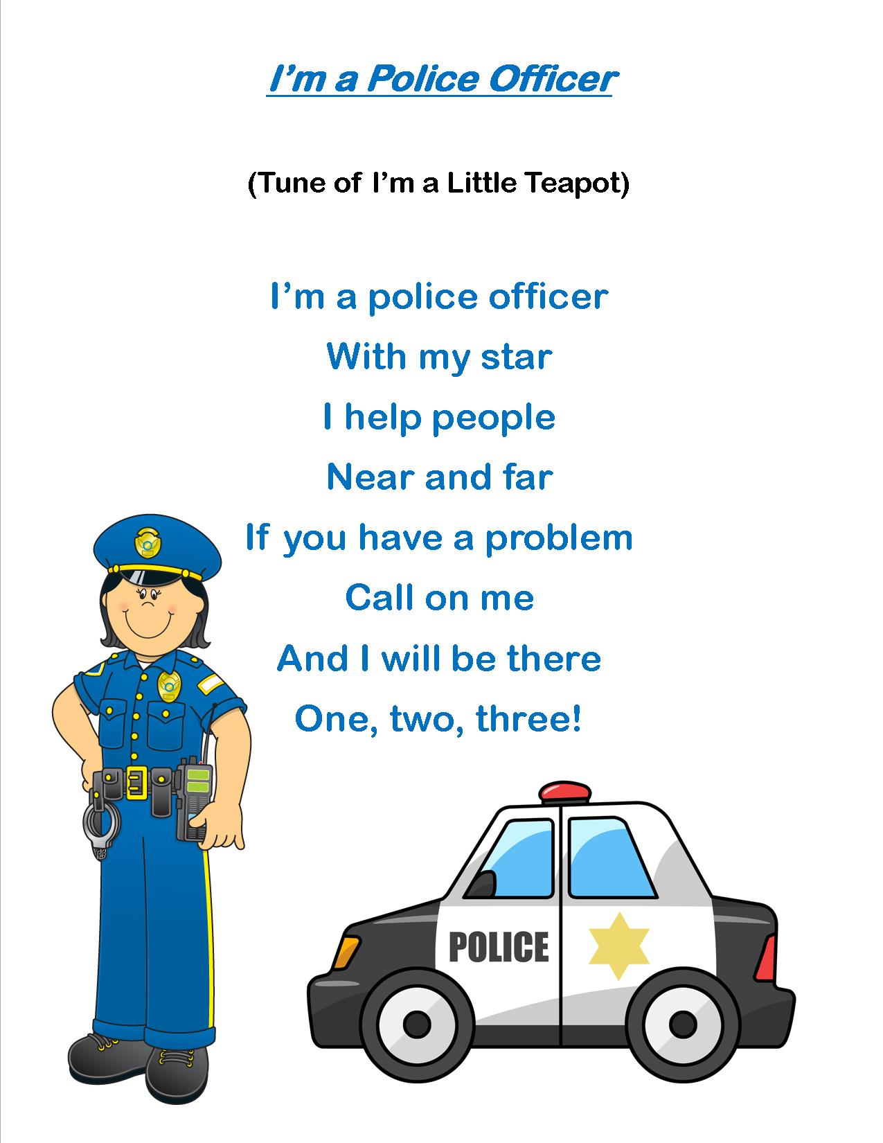 Storytime Theme My Friends The Police Everyday I Write The Book