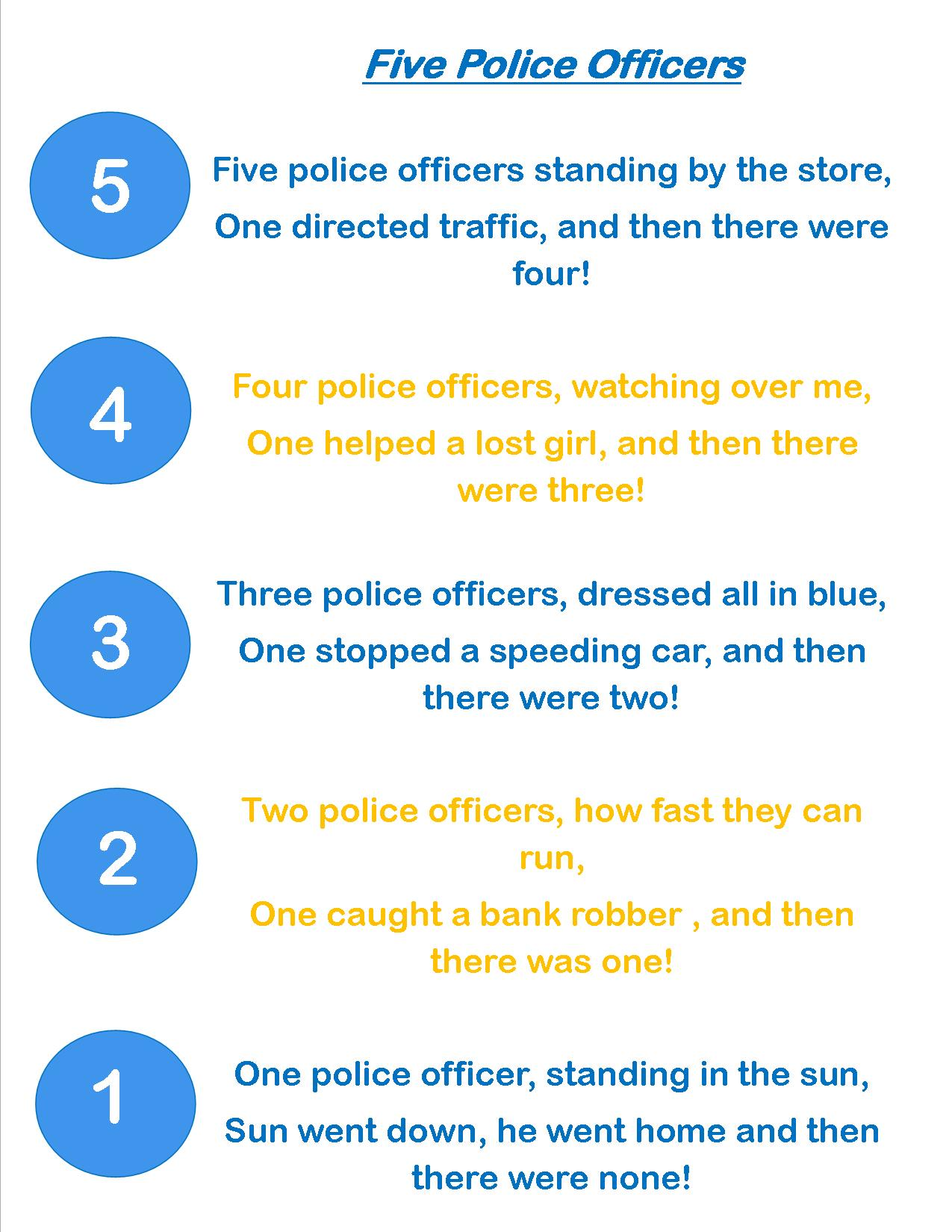 Preschool Activities For Police Officers