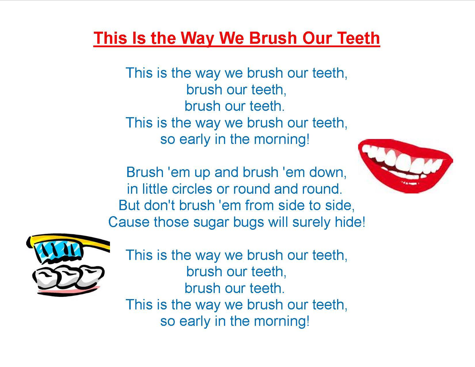 Teeth Songs For Preschoolers