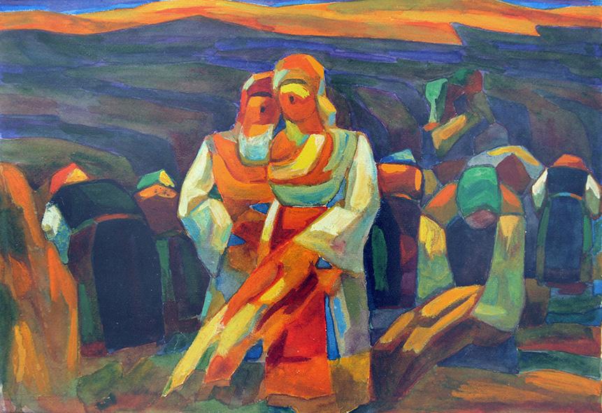 VladimirDimitrov-Maystora_Peasant-Women-Sing_30x43cm.