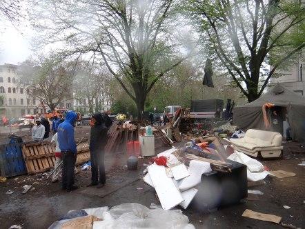 Oranienplatz Eviction April 2014