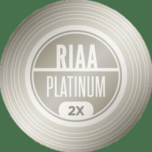 RIAA 2X Platinum Certification — 2,000,000 units