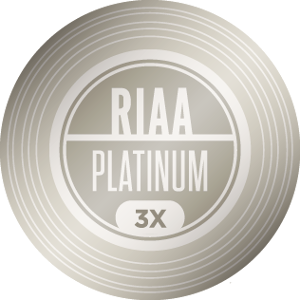RIAA 3X Platinum Certification — 3,000,000 units