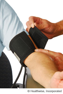 Blood pressure cuff that is too small