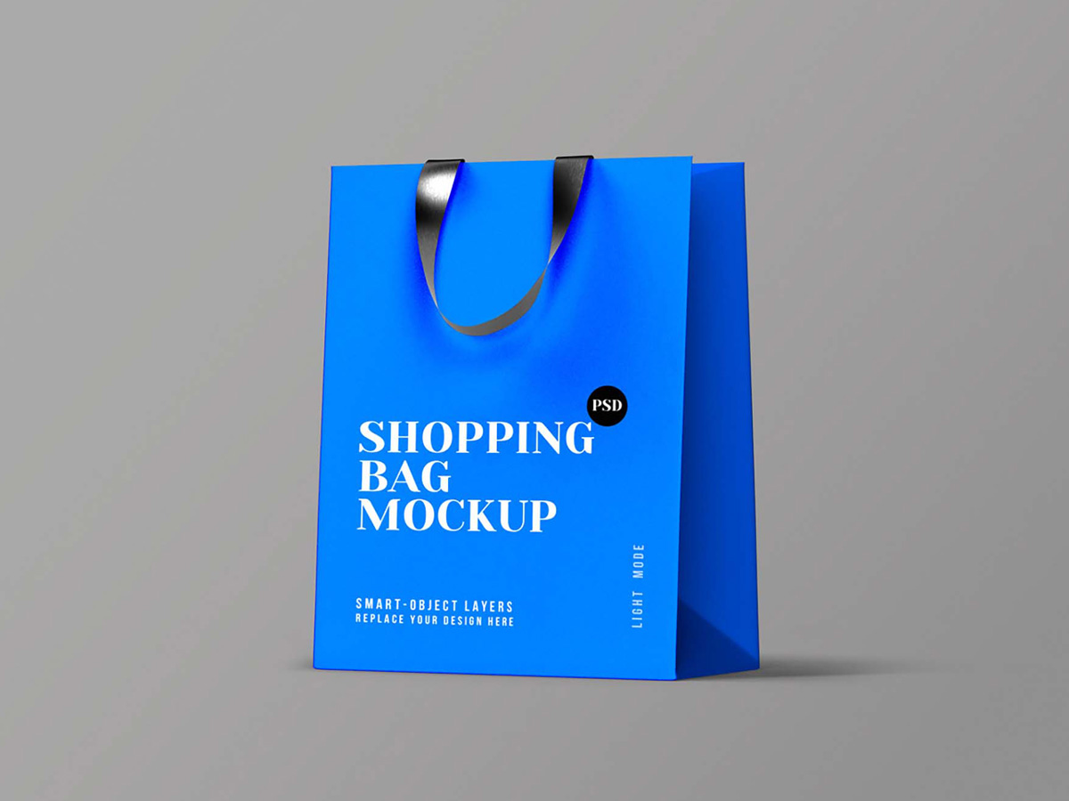 The psd file is structured for quick and convenient work: Download Free Paper Perspective Shopping Bag Mockup Psd Interaction Design Zone