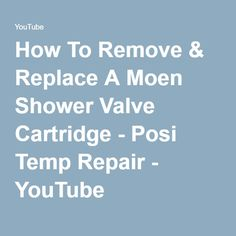 moen shower faucet removing cartridge