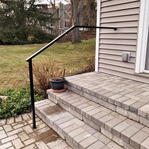 Handrails Great Lakes Metal Fabrication | Metal Handrails For Outdoor Steps | Hand | Front Porch Stair Railing | Outside | Patio | Gas Pipe