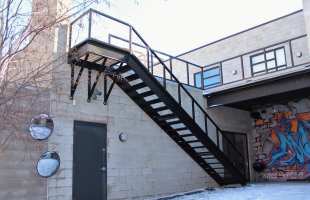 Roof Access Stairs   Great Lakes Metal Fabrication