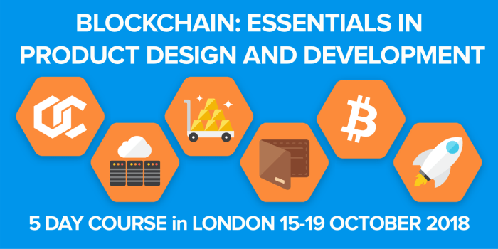BLOCKCHAIN DESIGN MASTERCLASS – LONDON