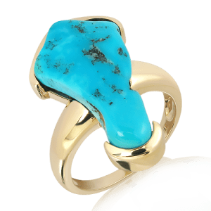 Arizona Turquoise Ring in Gold