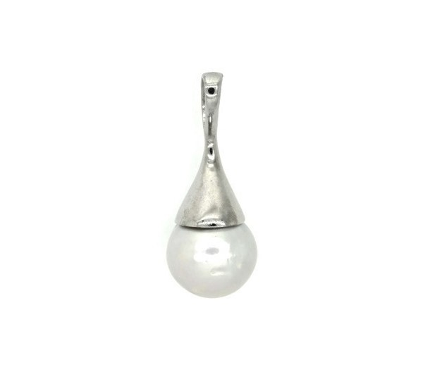 Silver Pendant with Deep Sea Pearl