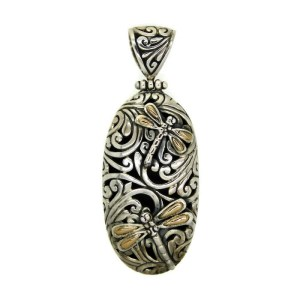 Sterling Silver & 18 Ct Gold Pendant
