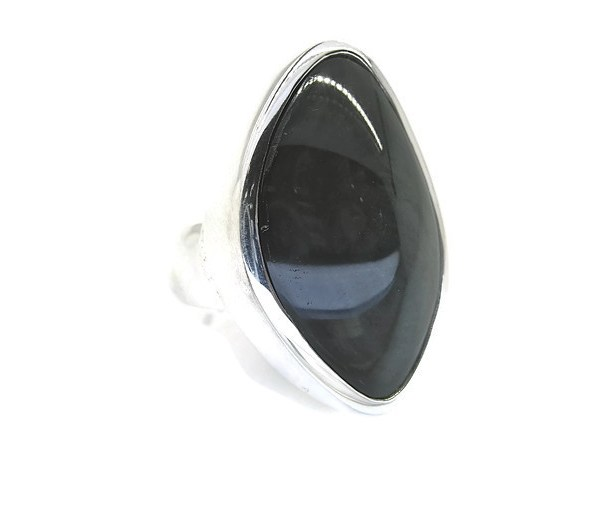 Rainbow Obsidian in Handmade Silver Ring