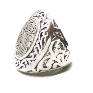 Sterling Silver ring with filigree