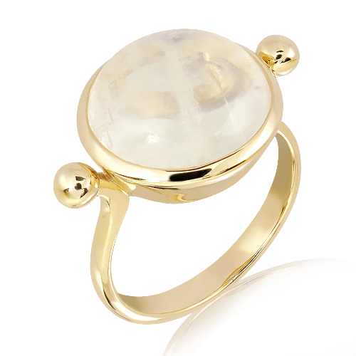 Moonstone in Handmade Gold ring