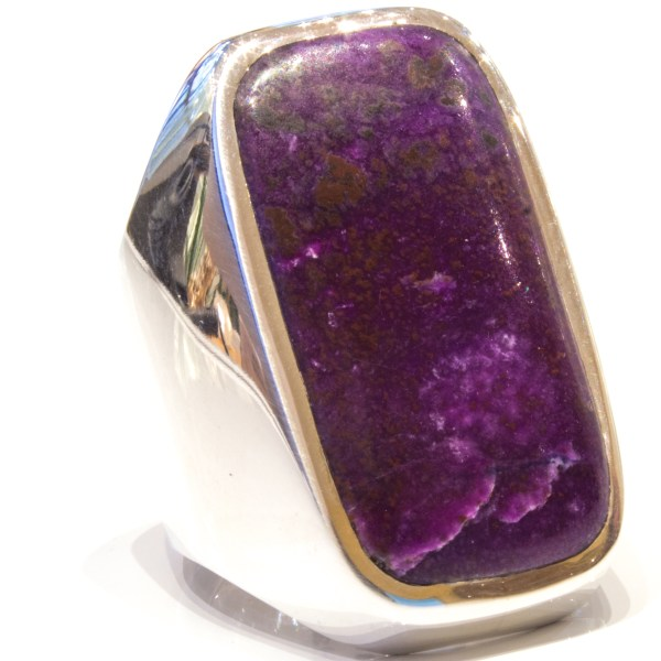 Sugilite Stone set in Handmade Silver Ring
