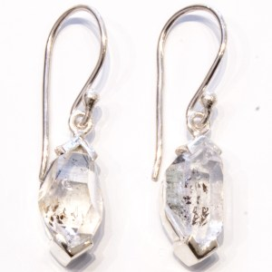 Herkimer Diamonds Handmade Earrings in Silver