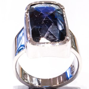Faceted Kyanite Handmade Ring